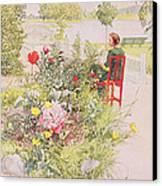 Summer In Sundborn Canvas Print by Carl Larsson