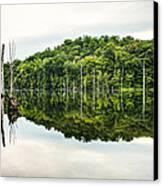 Summer Morning On Monksville Reservoir 2 Canvas Print by Gary Heller