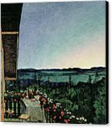 Summer Night Canvas Print by Harald Oscar Sohlberg