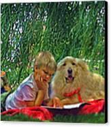 Summer Reading Canvas Print by Jane Schnetlage