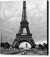 Summer Storm Over The Eiffel Tower Canvas Print