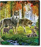 Summer Wolf Family Canvas Print by Jan Patrik Krasny