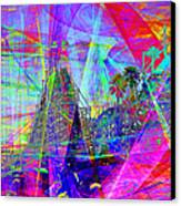 Summertime At Santa Cruz Beach Boardwalk 5d23930 Square Canvas Print