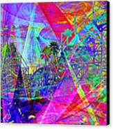 Summertime At Santa Cruz Beach Boardwalk 5d23930 Canvas Print by Wingsdomain Art and Photography