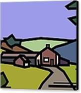 Summertime On Joe's Farm Canvas Print by Kenneth North