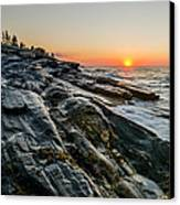 Sun Breaks At Pemaquid Point Canvas Print by At Lands End Photography