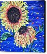 Sun Flowers And Wind Canvas Print