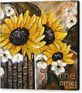 Sun Flowers Canvas Print by Elena  Constantinescu
