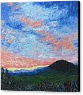 Sun Setting Over Mole Hill - Sold Canvas Print
