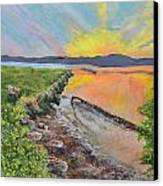 Sunburst Sun Canvas Print by Leo Gehrtz