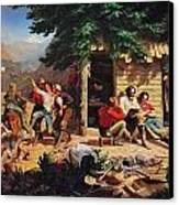 Sunday Morning In The Mines Canvas Print by Charles Nahl