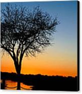 Sundown In South Carolina Canvas Print by Ella Char