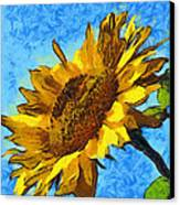 Sunflower Abstract Canvas Print by Unknown