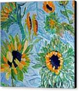 Sunflower Cycle Of Life 1 Canvas Print by Vicky Tarcau