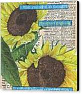 Sunflower Dictionary 2 Canvas Print by Debbie DeWitt