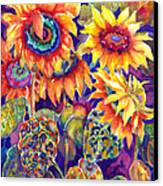 Sunflower Garden Canvas Print by Ann  Nicholson