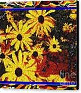 Sunflowers In The Park Canvas Print by Lewanda Laboy