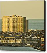 Sunny Day In Atlantic City Canvas Print by Trish Tritz