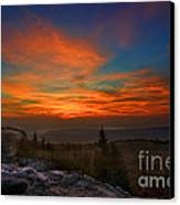 Sunrise At Bear Rocks In Dolly Sods Canvas Print by Dan Friend
