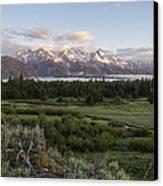 Sunrise At Grand Teton Canvas Print by Brian Harig