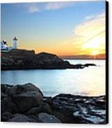 Sunrise At Nubble Canvas Print by Andrea Galiffi
