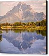 Sunrise At Oxbow Bend 2 Canvas Print by Marty Koch