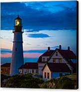 Sunrise At Portland Head Lighthouse Canvas Print by Diane Diederich