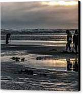 Sunrise Clam Tide Canvas Print