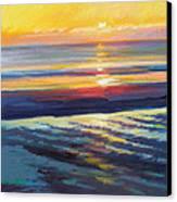 Sunrise Flats Canvas Print by Ed Chesnovitch