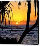 Sunrise Fuji Beach Kauai Canvas Print