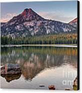 Sunrise On Gunsight Mountain Canvas Print by Robert Bales