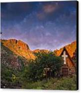 Sunrise On The Chapel Canvas Print by Aaron Bedell