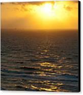 Sunrise On The Gulf Canvas Print by Barbara Shallue