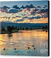 Sunrise On The North Payette River Canvas Print