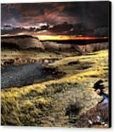 Sunrise On The Pawnee Grasslands Canvas Print by Ric Soulen