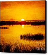 Sunrise On The Pond Canvas Print by Pam Vick