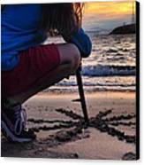 Sunset And Sand Art Canvas Print by Brian Maloney