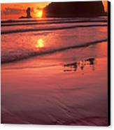 Sunset At Second Beach Olympic National Park Canvas Print
