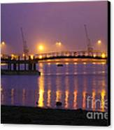 Sunset At Southampton Docks Canvas Print by Terri Waters