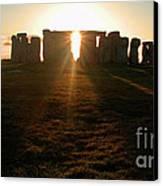 Sunset At Stonehenge 4 Canvas Print by Deborah Smolinske