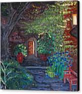 Sunset At The Villa Canvas Print