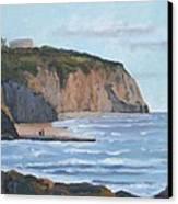Sunset Cliffs Ca Canvas Print by Raymond Kaler