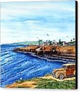 Sunset Cliffs Ocean Beach Canvas Print by John YATO