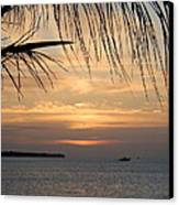 Sunset Fishing Canvas Print