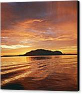 Sunset In Alesund Canvas Print by Christine Rivers