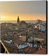 Sunset In Calahorra From The Bell Tower Of Saint Andrew Church Canvas Print