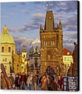Sunset In Prague Canvas Print by Raffi  Bashlian