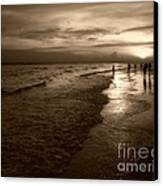 Sunset In Sepia Canvas Print by Jeff Breiman