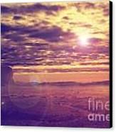 Sunset In The Desert Canvas Print by Jelena Jovanovic