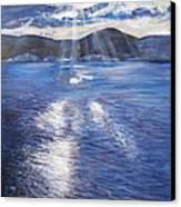 Sunset Near Myrtos Beach Kefalonia Canvas Print